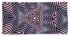 Abstract Zebra Design Beach Towel
