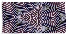 Abstract Zebra Design Beach Towel