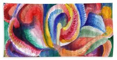 Abstraction Bloom Beach Towel