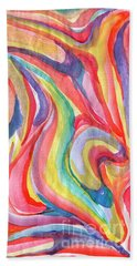Abstraction In Autumn Colors Beach Towel