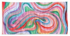 Abstraction In Spring Colors Beach Towel