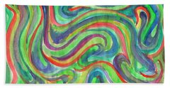 Abstraction In Summer Colors Beach Towel