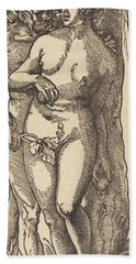 Adam And Eve, 1519 By Grien Beach Towel