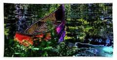 Beach Towel featuring the photograph Adirondack Guide Boat by David Patterson