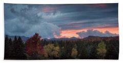 Adirondack Loj Road Sunset Beach Towel