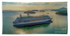 Adventure Of The Seas, Bar Harbor  Beach Towel