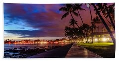 After Sunset At Kona Inn Beach Towel