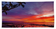 After Sunset Vibrance Beach Towel