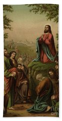 After This Manner Therefore Pray Ye  Our Father Which Art In Heaven Beach Towel