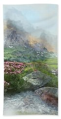 Afternoon Light In The Alps II Beach Towel