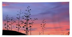 Beach Towel featuring the photograph Agave Sunset 1 by Dawn Richards