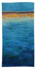 Beach Towel featuring the painting Aguamarina by Norma Duch