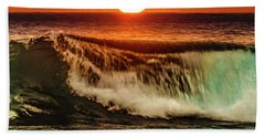 Ahh.. The Sunset Wave Beach Towel
