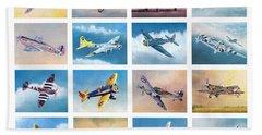 Airplane Poster Beach Sheet