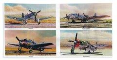 Airshow Warbirds Beach Towel