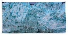 Alaskan Blue Glacier Ice Beach Towel