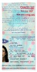 Alice Cooper Passport 1997 Beach Towel