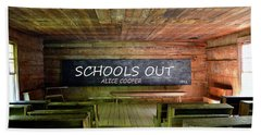 Alice Coopers Schools Out 1972 Beach Towel