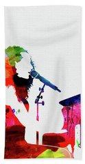 Alicia Keys Watercolor Beach Towel