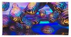 Alien Biometal Blue Beach Towel
