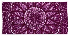Beach Towel featuring the painting Alien Bloom 10 by Amy E Fraser