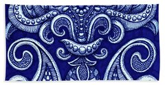 Beach Towel featuring the painting Alien Bloom 12 by Amy E Fraser