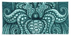 Beach Towel featuring the painting Alien Bloom 13 by Amy E Fraser