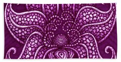 Beach Towel featuring the painting Alien Bloom 20 by Amy E Fraser