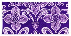 Beach Towel featuring the painting Alien Bloom 21 by Amy E Fraser