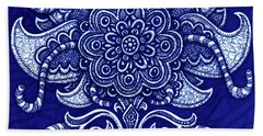 Beach Towel featuring the painting Alien Bloom 22 by Amy E Fraser