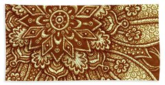 Beach Towel featuring the painting Alien Bloom 27 by Amy E Fraser
