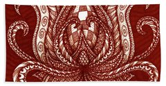 Beach Towel featuring the painting Alien Bloom 28 by Amy E Fraser