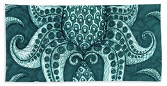 Beach Towel featuring the painting Alien Bloom 3 by Amy E Fraser