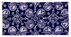 Beach Towel featuring the painting Alien Bloom 9 by Amy E Fraser