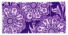 Beach Towel featuring the painting Alien Bloom 1 by Amy E Fraser