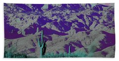 Alien Colors On Mount Lemmon Beach Towel