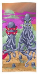 Alien Gothic Beach Towel