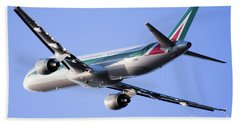 Alitalia Commercial Flight E2 Beach Towel