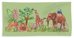 All Is Well In The Jungle Beach Towel
