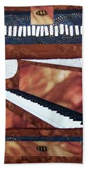 All That Jazz Piano Beach Towel