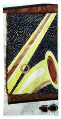 All That Jazz Saxophone Beach Towel
