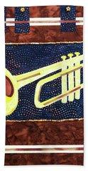 All That Jazz Trumpet Beach Towel
