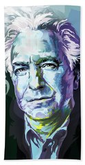 Allan Rickman Portrait In Blue Beach Towel