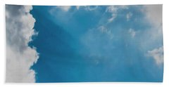 Colours. Blue. Alone. Beach Towel