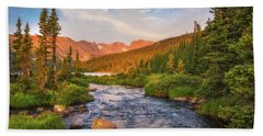 Alpenglow Creek Beach Towel