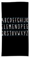 Alphabet Elemeno Beach Sheet