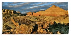 Amazing Clouds Over Ruby Mountain And Colorado National Monument Beach Towel