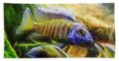 Amazing Peacock Cichlid Beach Towel