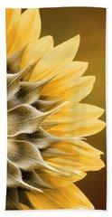 Amber Sunflower Beach Towel