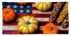American Autumn Harvest Beach Towel